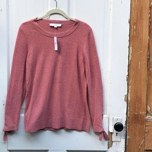 Loft pink sweater Size XS New With Tags